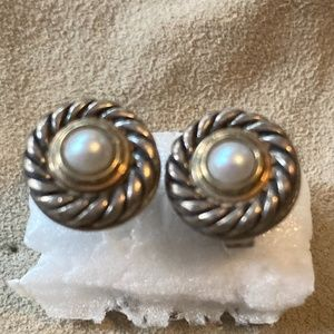 David Yurman Pearl Cookie Stud Earrings